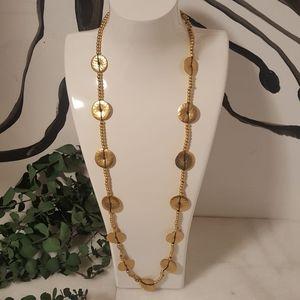 Ralph Lauren Grecian Disc Beaded Opera Necklace